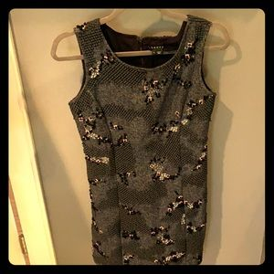Theory appliqué and sequined dress, size 0